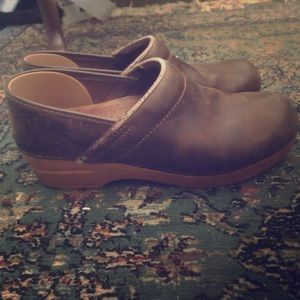 Leather dansko clogs